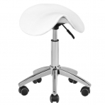 Meistro kėdutė STOOL BEAUTY ROUND WHITE
