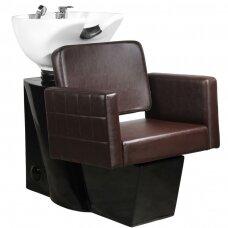 Friziera izlietne GABBIANO PROFESSIONAL HAIRWASHER CHAIR BLACK BASE BROWN SEAT