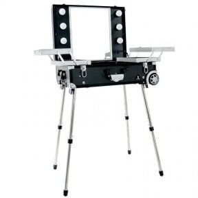 Зеркало - чемодан для макияжа CASE GLAMOR BLACK