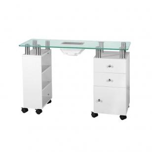 Manikīra galds ar putekļu savācēju GLASS WHITE