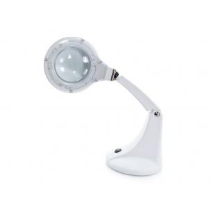 Kosmetologinė LED lempa su lupa 4W (pastatoma ant stalo)