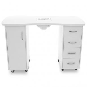 Manikīra galds ar putekļu savācēju CABINETS WHITE