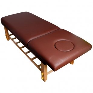 Stacionarus masažo stalas COMFORT WOOD BROWN