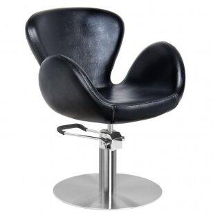 Frizieru krēsls GABBIANO HAIRDRESSING CHAIR ROUND BLACK