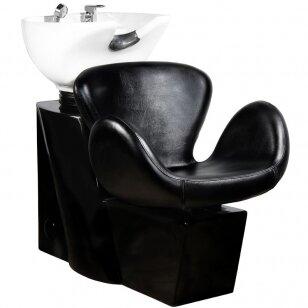 Friziera izlietne GABBIANO PROFESSIONAL HAIRWASHER ROUND BLACK SEAT