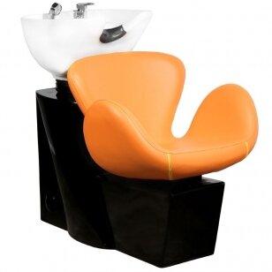 Friziera izlietne GABBIANO PROFESSIONAL HAIRWASHER ROUND ORANGE SEAT
