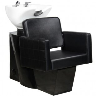 Friziera izlietne GABBIANO PROFESSIONAL HAIRWASHER CHAIR BLACK BASE BLACK SEAT