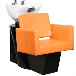 Friziera izlietne GABBIANO PROFESSIONAL HAIRWASHER CHAIR BLACK BASE AMBER SEAT