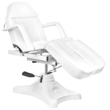 Kosmetologinis krėslas HYDRAULIC COSMETIC SALON PEDI WHITE