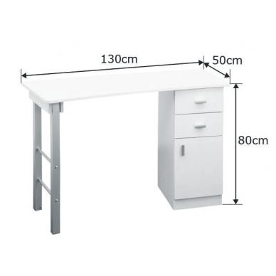 Manikiūro stalas GIOVANNI WHITE 4