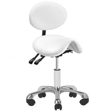 Meistara krēsls COSMETIC STOOL GIOVANNI WHITE