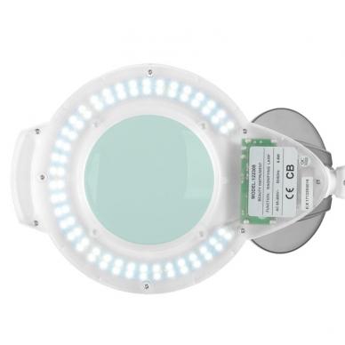 Kosmetologinė lempa LED su lupa 5W (pastatoma ant grindų) 4