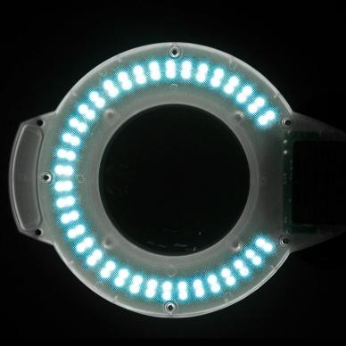 Kosmetologinė lempa LED su lupa 5W (pastatoma ant grindų) 5
