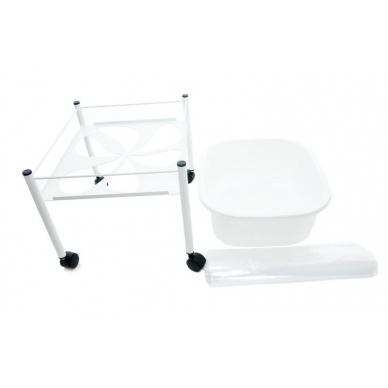 Pedikiūro vonelės vežimėlis SHOWER FOR PEDICURE SIMPLE WHITE 2