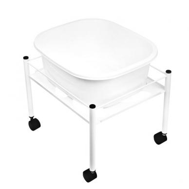 Pedikiūro vonelės vežimėlis SHOWER FOR PEDICURE SIMPLE WHITE