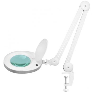 Kosmetologinė LED lempa su lupa 6W (tvirtinama prie stalo)