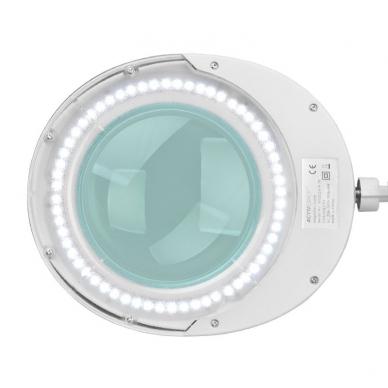 Kosmetologinė lempa LED su lupa 6W (pastatoma ant grindų su ratukais) 5