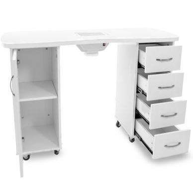 Manikiūro stalas su dulkių surinkėju CABINETS WHITE 3