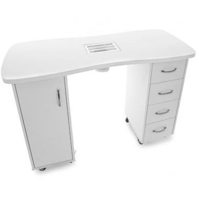 Manikiūro stalas su dulkių surinkėju CABINETS WHITE 4
