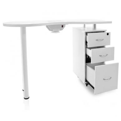 Manikiūro stalas su dulkių surinkėju DESK WHITE 4