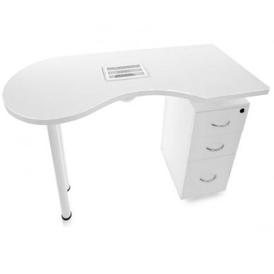 Manikiūro stalas su dulkių surinkėju DESK WHITE 5