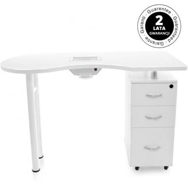 Manikiūro stalas su dulkių surinkėju DESK WHITE 8
