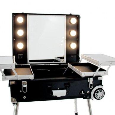 Makiažo veidrodis - lagaminas CASE GLAMOR BLACK 3