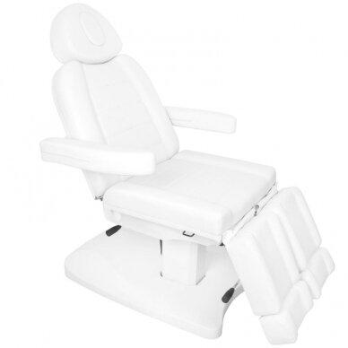 Kosmētikas krēsls AZZURRO 2 MOTOR PEDI WHITE 4