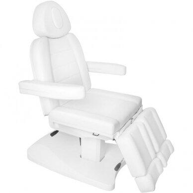 Kosmētikas krēsls AZZURRO 2 MOTOR PEDI WHITE 5