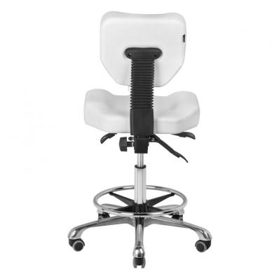 Meistara krēsls BEAUTY STOOL COMFORT WHITE 4