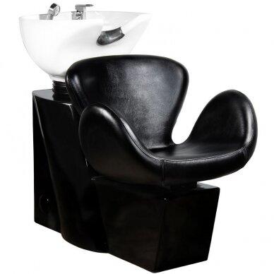 Kirpyklos plautuvė GABBIANO PROFESSIONAL HAIRWASHER ROUND BLACK SEAT