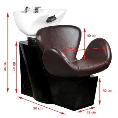 Juuksuri valamu GABBIANO PROFESSIONAL HAIRWASHER ROUND BROWN SEAT 2
