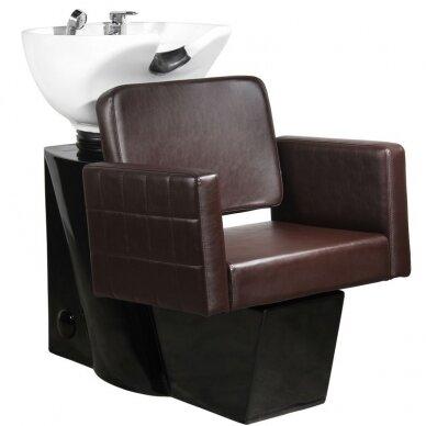 Juuksuri valamu GABBIANO PROFESSIONAL HAIRWASHER CHAIR BLACK BASE BROWN SEAT
