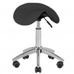 Meistara krēsls STOOL BEAUTY ROUND BLACK