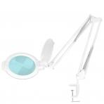 Kosmetologinė LED lempa su lupa 8W (baltos spalvos, tvirtinama prie stalo)