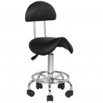 Meistara krēsls STOOL BEAUTY 3 BLACK