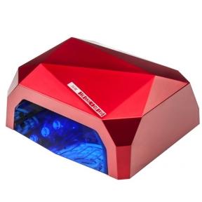 UV/LED/CCFL nagų lempa 48W DIAMOND SENSOR RED