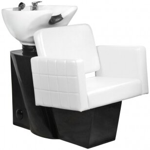 Friziera izlietne GABBIANO PROFESSIONAL HAIRWASHER CHAIR BLACK BASE WHITE SEAT