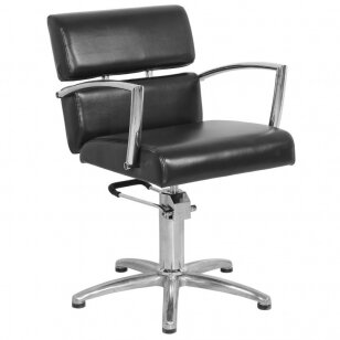 Kirpyklos kėdė GABBIANO HAIRDRESSING CHAIR STRIP BLACK