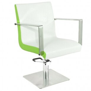 Kirpyklos kėdė GABBIANO HAIRDRESSING CHAIR WHITE GREEN