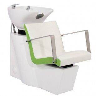 Friziera izlietne GABBIANO PROFESSIONAL HAIRWASHER WHITE BASE WHITE GREEN SEAT
