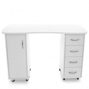 Manikiūro stalas CABINETS WHITE