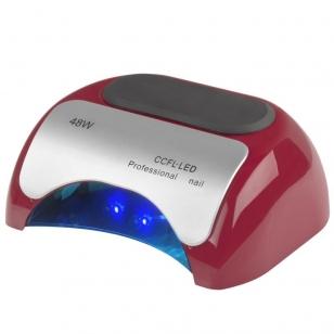 UV/LED/CCFL nagų lempa 48W PROFESSIONAL SENSOR RED