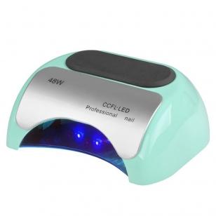 UV/LED/CCFL nagų lempa 48W PROFESSIONAL SENSOR MINT