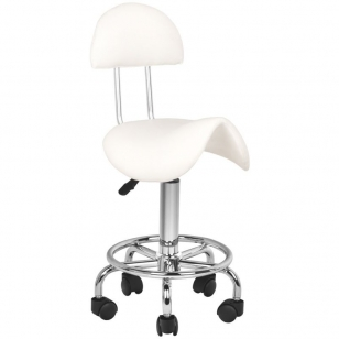 Meistro kėdutė STOOL BEAUTY 3 WHITE