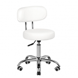 Meistro kėdutė BEAUTY STOOL WHITE HYDRAULIC