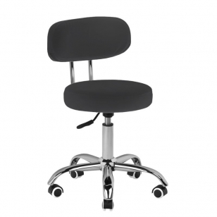 Meistro kėdutė BEAUTY STOOL BLACK HYDRAULIC