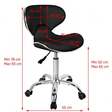 Meistara krēsls GABBIANO STOOL BLACK 2