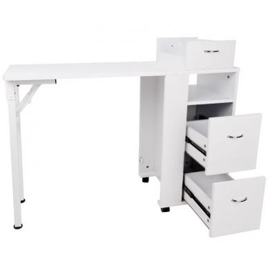 Sulankstomas manikiūro stalas DESK FOLDING WHITE 4