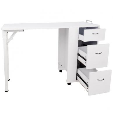 Sulankstomas manikiūro stalas DESK FOLDING WHITE 5